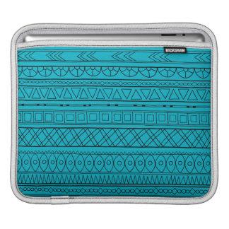 Tribal blue Ethnic pattern iPad Sleeve