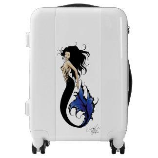 Tribal Blue Mermaid Luggage