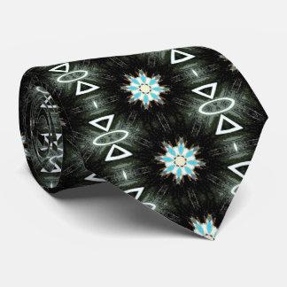 tribal blue star bursts black tie