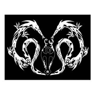 Tribal Body Dragon Wings Postcard