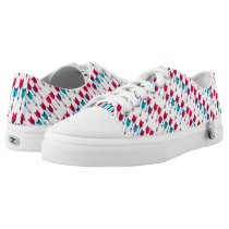 Tribal Boho Arrows Red Turquoise Feather Bohemian Low-Top Sneakers