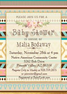 Native American Baby Shower Invitations | Zazzle