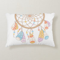 Tribal Boho Dreamcatcher Decorative Pillow
