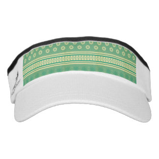 tribal,boho,green,yellow,girly,cute,hipster,patter headsweats visor