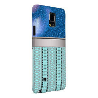 tribal border pattern  vertical, aqua (I) Galaxy Note 4 Case