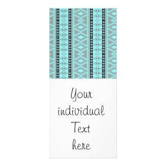 tribal border pattern  vertical, aqua (I) Rack Cards
