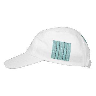 tribal border pattern  vertical, aqua (I) Headsweats Hat