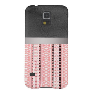 tribal border pattern  vertical,pink (I) Galaxy S5 Cases