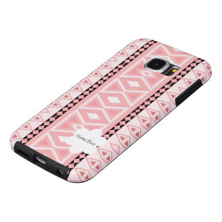 tribal border pattern  vertical,pink (I) Samsung Galaxy S6 Cases