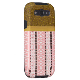 tribal border pattern  vertical,pink (I) Galaxy S3 Case