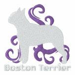 Tribal Boston Terrier Embroidered Hoodie