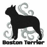 Tribal Boston Terrier Embroidered Shirt