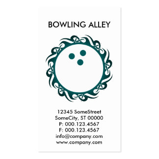 tribal BOWLING alley Double-Sided Standard Business Cards (Pack Of 100)