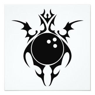 tribal bowling ball card
