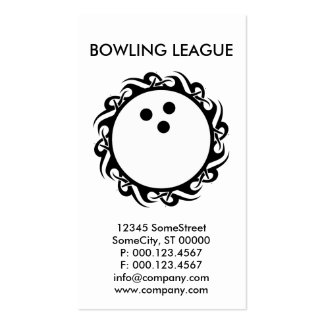 tribal BOWLING Double-Sided Standard Business Cards (Pack Of 100)