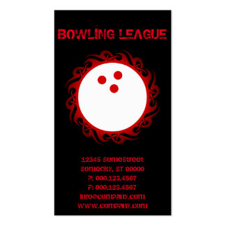 tribal BOWLING league Double-Sided Standard Business Cards (Pack Of 100)