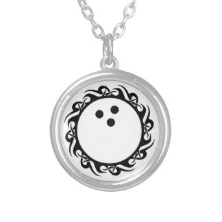 tribal BOWLING Personalized Necklace