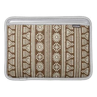 Tribal brown Ethnic pattern Macbook Air Sleeve