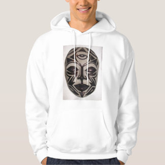 Tribal Buddha Face by KLM Hooded Sweatshirt