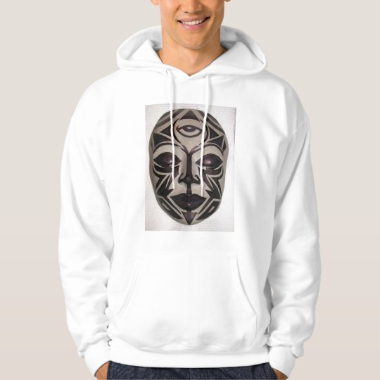Tribal Buddha Face by KLM Hoodie