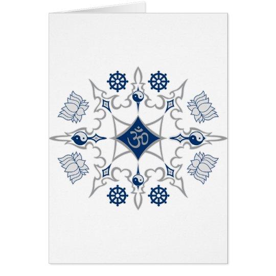 Tribal Buddhist Symbols Card