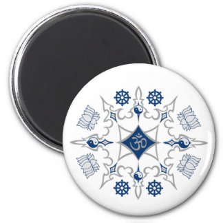 Tribal Buddhist Symbols Magnet
