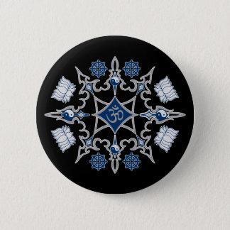Tribal Buddhist Symbols Pinback Button