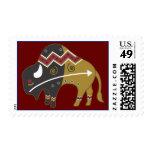 Tribal Buffalo Western Postage Stamps