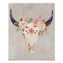 Tribal bullhead, floral bullhead, poster