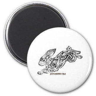Tribal Bunny 2 Inch Round Magnet
