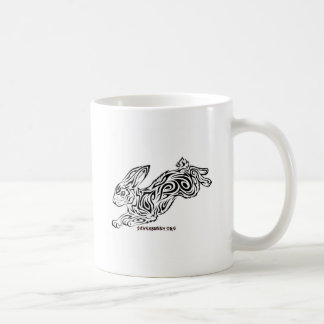 Tribal Bunny Coffee Mugs