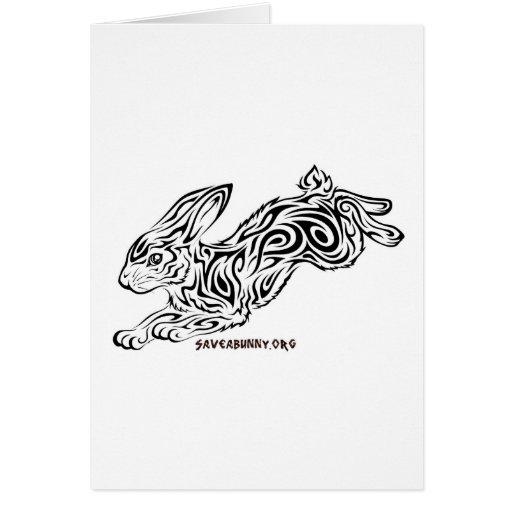 Tribal Bunny Greeting Card