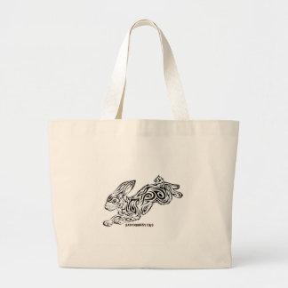 Tribal Bunny Large Tote Bag