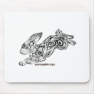Tribal Bunny Mouse Pad