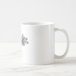 Tribal Bunny Classic White Coffee Mug