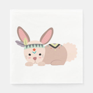 Tribal Bunny Napkin