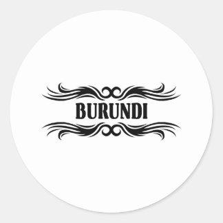 Tribal Burundi Classic Round Sticker