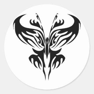 Tribal Butterfly Art  #029 Classic Round Sticker