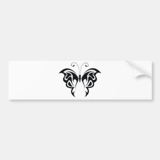 Tribal Butterfly Bumper Sticker