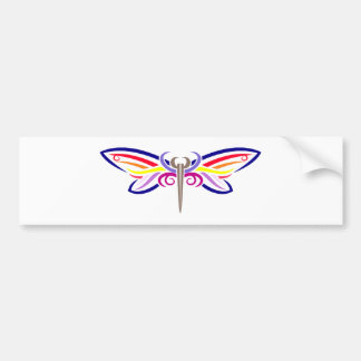 tribal butterfly butterfly bumper sticker