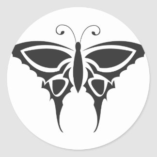 Tribal Butterfly Classic Round Sticker