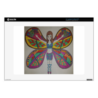 Tribal butterfly Fairy Laptop Decals