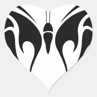 Tribal Butterfly Heart Sticker