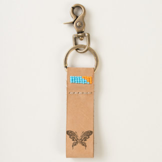 Tribal Butterfly Keychain