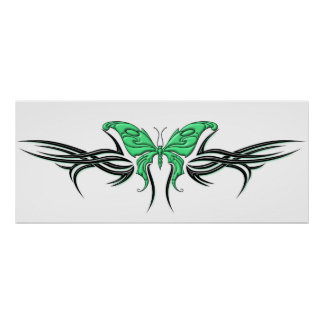 Tribal Butterfly Poster