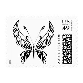 Tribal butterfly stamp