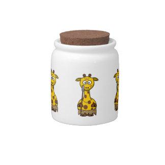 Tribal Cartoon Giraffe Candy Jars