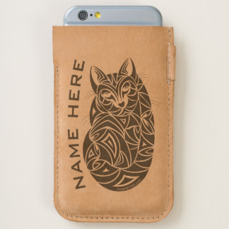 Tribal Cat Sleeping Cool Tattoo Style Cat Lover iPhone 6/6S Case
