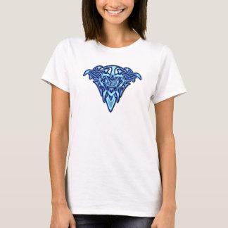 Tribal/Celtic Tattoo-like Glowing Blue Heart T-Shirt