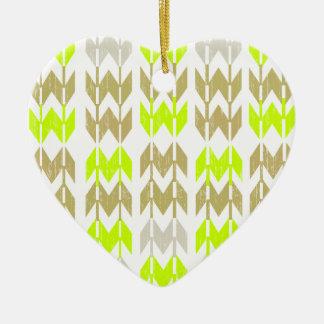 Tribal chevron geometric abstract neon pattern christmas ornaments
